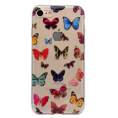 Maska Pentru Apple iPhone 7 iPhone 7 Plus IMD Model Carcasă Spate Fluture Moale TPU pentru iPhone 7 Plus iPhone 7 iPhone 6s Plus iPhone 6
