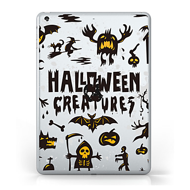 Pentru iPad (2017) Carcase Huse Transparent Model Carcasă Spate Maska Transparent Halloween Moale TPU pentru Apple IPad pro 10.5 iPad