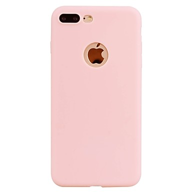 Maska Pentru Apple iPhone 7 Plus iPhone 7 Ultra subțire Capac Spate Culoare solidă Moale TPU pentru iPhone 7 Plus iPhone 7 iPhone 6s Plus