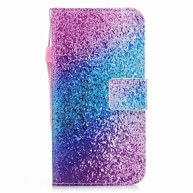 Maska Pentru Apple iPhone X iPhone X Titluar Card Portofel Cu Stand Magnetic Carcasă Telefon culoare Gradient Luciu Strălucire Greu PU