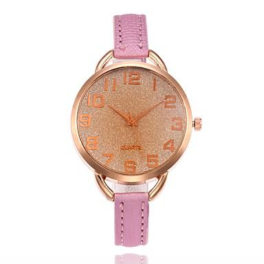 Pentru femei Quartz Unic Creative ceas Ceas de Mână Ceas La Modă Chineză cald Vânzare PU Bandă Charm Casual Negru Alb Roșu Maro Verde Pink