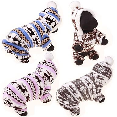 Собака Толстовки Комбинезоны Свитера Зимняя одежда Одежда для собак На каждый день Северный олень Серый Кофейный Синий Розовый