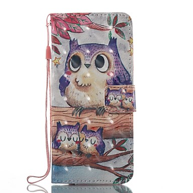 Case For Samsung Galaxy S8 Plus S8 Wallet Card Holder with Stand Flip Pattern Magnetic Full Body Owl Hard TPU for S8 S8 Plus S7 edge S7