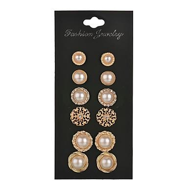 Pentru femei Cercei Stud Imitație de Perle La modă Personalizat Aliaj Circle Shape Bijuterii Pentru Nuntă Petrecere Zi de Naștere Logodnă