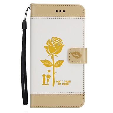 Pentru iPhone 7 iPhone 7 Plus Carcase Huse Portofel Titluar Card Cu Stand Întoarce Model Corp Plin Maska Floare Greu PU Piele pentru Apple