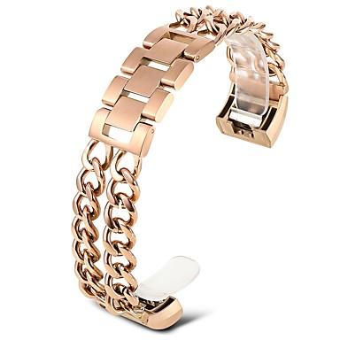 זול רצועות שעון-פלדת על חלד צפו בנד רצועה ל זהב ורד 20cm / 7.9 אינצ'ים 1.8cm / 0.7 אינצ'ים