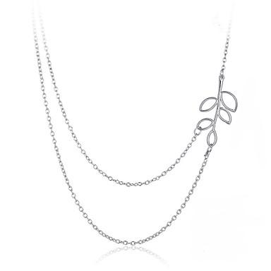Pentru femei Lănțișoare Leaf Shape Vintage Boem Modă Aliaj Argintiu Coliere Bijuterii Pentru Cadou Zilnic Casual Stradă Club