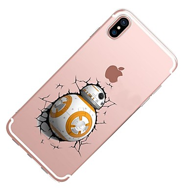 iPhone Cartoni Apple animati Transparente per X Morbido 8 X TPU Per Fantasia Custodia retro Per iPhone disegno iPhone iPhone Plus 06227455 8 qIwYAP5