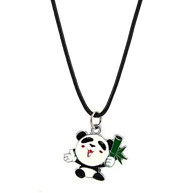 Bărbați Pentru femei Adorabil Panda Coliere cu Pandativ  -  Clasic Negru Coliere Pentru Logodnă Ceremonie