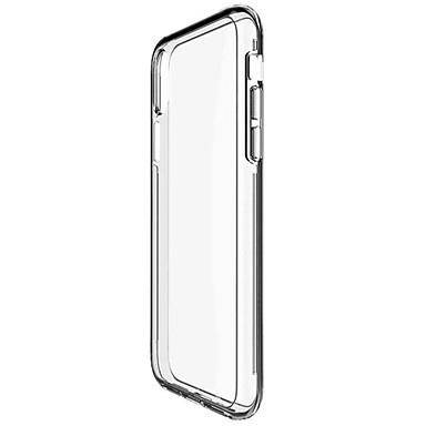 Кейс для Назначение Apple iPhone X iPhone X iPhone 8 iPhone 8 Plus Защита от удара Прозрачный Кейс на заднюю панель Сплошной цвет Твердый