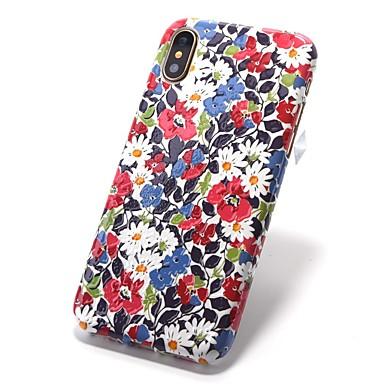 Pentru iPhone X iPhone 8 iPhone 8 Plus Carcase Huse Ultra subțire Model Carcasă Spate Maska Țiglă Floare Moale TPU pentru Apple iPhone X