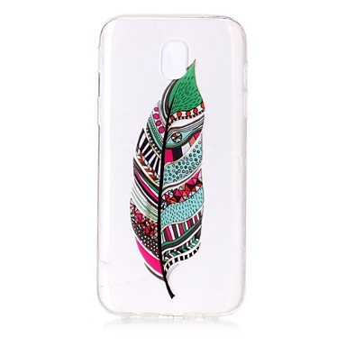 [$3.99] For Case Cover IMD Transparent Pattern Back Cover Case Feathers Soft TPU for Samsung Galaxy J7 (2016) J7 (2017) J5 (2016) J5 (2017) J3 J3