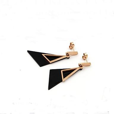 Pentru femei Cercei Stud Bijuterii Modă stil minimalist Oțel titan Τρίγωνο Bijuterii Casual Ieșire