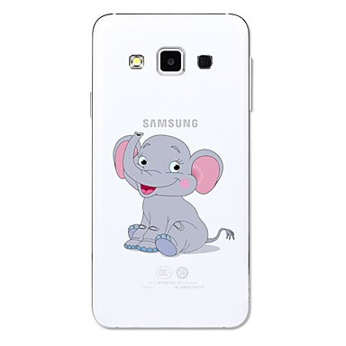 voordelige Galaxy A-serie hoesjes / covers-hoesje Voor Samsung Galaxy A3 (2017) / A5 (2017) / A5(2016) Transparant / Patroon Achterkant dier / Cartoon / Olifant Zacht TPU