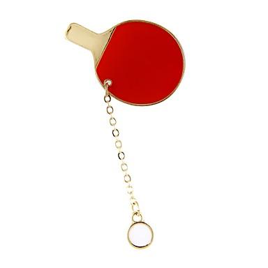 Pentru femei Broșe - Clasic / Crăciun Geometric Shape Rosu Broșă Pentru Scenă / Concediu