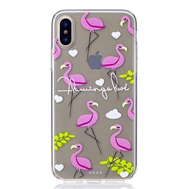 Pentru iPhone X iPhone 8 Carcase Huse Transparent Model Carcasă Spate Maska Flamingo Moale TPU pentru Apple iPhone X iPhone 8 Plus iPhone