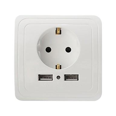 Încărcător USB 2 porturi Stație încărcător de birou Priză EU Adaptor de încărcare