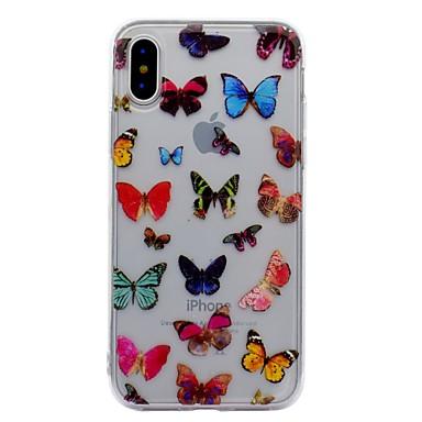 Maska Pentru Apple iPhone X iPhone 8 iPhone 8 Plus IMD Model Carcasă Spate Fluture Moale TPU pentru iPhone X iPhone 8  Plus iPhone 8