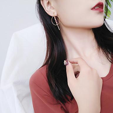 Pentru femei Cercei Picătură La modă stil minimalist Aliaj Circle Shape Leaf Shape Bijuterii Pentru Casual