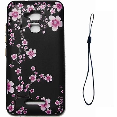 caz pentru asus zenfone 3 max zc520tl acoperire back cover case floare soft tpu