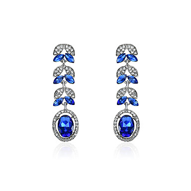 Pentru femei Cercei Picătură Diamant sintetic La modă Clasic Ștras Aliaj Geometric Shape Bijuterii Pentru Petrecere Concediu