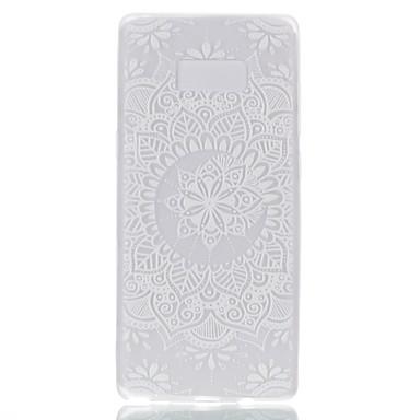 Maska Pentru Samsung Galaxy Note 8 Stralucire in intuneric Carcasă Spate Mandala dantelă de imprimare Moale TPU pentru Note 8