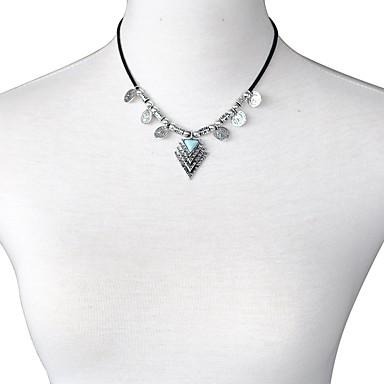 Pentru femei Geometric Shape Personalizat Boem De Bază Coliere cu Pandativ Turcoaz Aliaj Coliere cu Pandativ . Serată