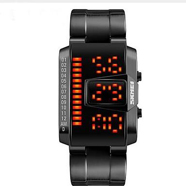 Bărbați Quartz Ceas de Mână / Ceas Sport Chineză Calendar / Rezistent la Apă Oțel inoxidabil Bandă Charm / Casual / Modă Negru / Alb