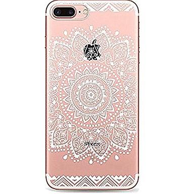 Coque Pour Apple iPhone 7 Plus iPhone 7 Ultrafine Transparente Motif Coque Mandala Impression de dentelle Flexible TPU pour iPhone 7 Plus