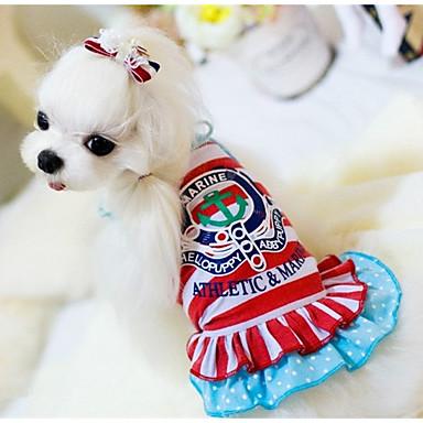 Câine Rochii Îmbrăcăminte Câini Casul/Zilnic Prințesă Rosu Albastru Costume Pentru animale de companie