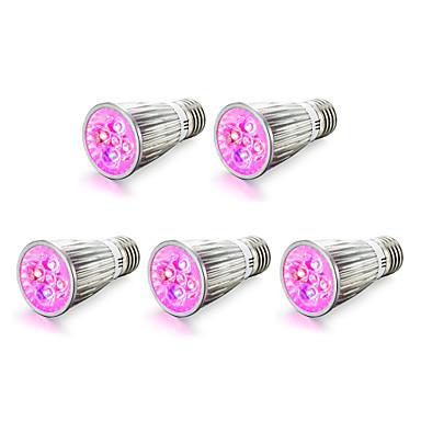 5pcs 4W 450 lm E14 E27 Lampy szklarniowe LED 5 Diody lED High Power LED Czerwony Niebieski AC 85-265V