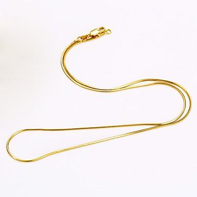 Bărbați Pentru femei Rotund Șarpe DIY stil minimalist Lănțișoare Placat Auriu Lănțișoare . Zilnic Casual