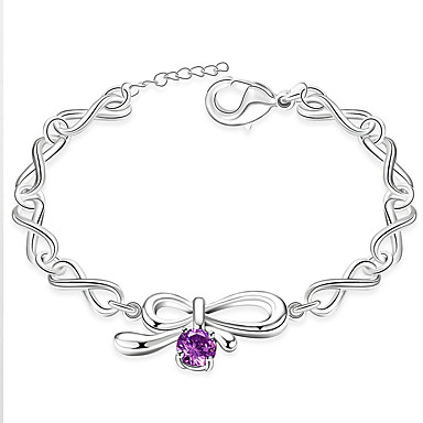 Pentru femei Fete Brățări cu Lanț & Legături Cristal Prietenie La modă Stâncă stil minimalist Floral Argilă Bowknot Shape Bijuterii Pentru