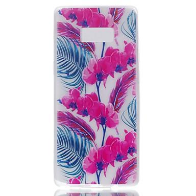 Maska Pentru Samsung Galaxy Note 8 Stralucire in intuneric Carcasă Spate Floare Moale TPU pentru Note 8