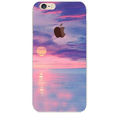 Maska Pentru Apple iPhone 7 Plus iPhone 7 Ultra subțire Transparent Model Capac Spate Decor Moale TPU pentru iPhone 7 Plus iPhone 7