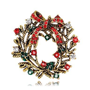Bărbați / Pentru femei Floral Floare Argilă / Placat Auriu Broșe - Floral / Stil Floral / Flori Auriu / Argintiu Broșă Pentru Crăciun /