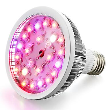 1 buc 200-300 lm E26/E27 Cultivarea becurilor 24 led-uri LED Putere Mare Alb Cald Alb Natural UV (Fosforescentă) Albastru Roșu AC 85-265V