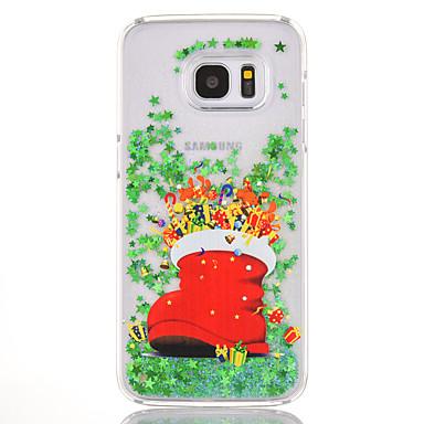 Maska Pentru Samsung Galaxy S7 edge S7 Scurgere Lichid Model Carcasă Spate Crăciun Greu PC pentru S7 edge S7 S6 edge plus S6 edge