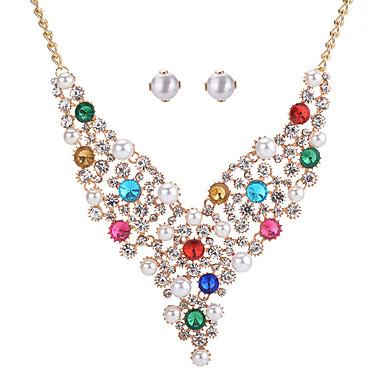 Pentru femei Cercei Stud Lănțișor Cristal Ștras Imitație de Perle Imitație de Perle Ștras Rotund Geometric Shape Lux Modă Nuntă Petrecere