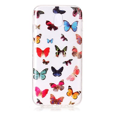 [$3.99] For Case Cover IMD Transparent Pattern Back Cover Case Butterfly Soft TPU for Samsung Galaxy J7 (2016) J7 (2017) J5 (2016) J5 (2017) J3