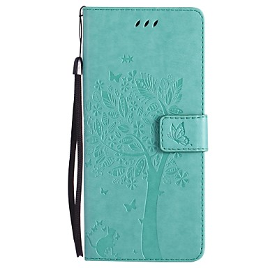 cheap Galaxy Note 4 Cases / Covers-Case For Samsung Galaxy Note 8 / Note 5 / Note 4 Wallet / Card Holder / with Stand Full Body Cases Cat / Tree Hard PU Leather