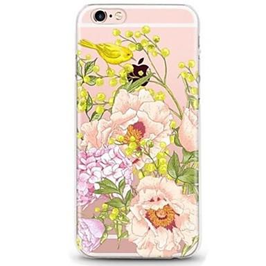 Pentru iPhone 7 iPhone 7 Plus Carcase Huse Ultra subțire Transparent Model Carcasă Spate Maska Animal Floare Moale TPU pentru Apple