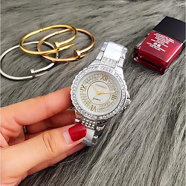 Bărbați Pentru femei Ceas La Modă Unic Creative ceas Ceas Casual Ceas de Mână Quartz Rezistent la Apă Oțel inoxidabil Bandă Charm