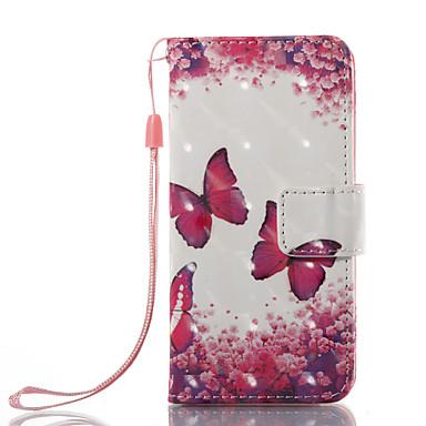 Недорогие Чехлы и кейсы для iPod-Кейс для Назначение iTouch 5/6 Кошелек / Бумажник для карт / со стендом Чехол Твердый