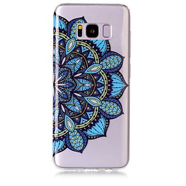 Недорогие Чехлы и кейсы для Galaxy S6-Кейс для Назначение SSamsung Galaxy S8 Plus / S8 / S7 edge IMD / Прозрачный / С узором Кейс на заднюю панель Мандала Мягкий ТПУ