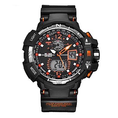Bărbați Ceas Sport Ceas de Mână Ceas Casual Ceas digital Swiss Piloane de Menținut Carnea Calendar Zone Duale de Timp  Cronometru Silicon