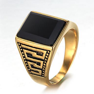 Bărbați Lux Altele - Lux / Vintage / Elegant Auriu Inel Pentru Zi de Naștere / Cadou / Zilnic
