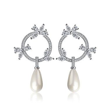 Pentru femei Lux Γεωμετρικά Cute Stil stil minimalist Perle Plastic Zirconiu Bijuterii Cadou Zilnic Casual