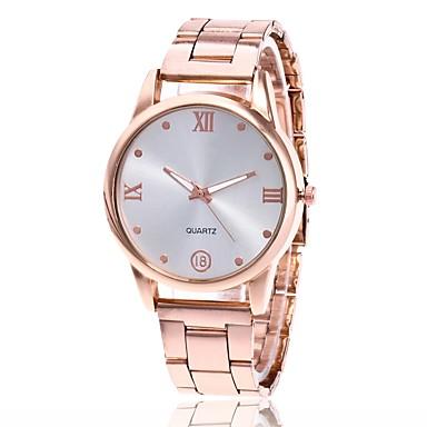 남성용 여성용 손목 시계 석영 메탈 실버 / 골드 / 로즈 골드 캐쥬얼 시계 아날로그 참 클래식 드레스 시계 - 골드 실버 로즈 골드