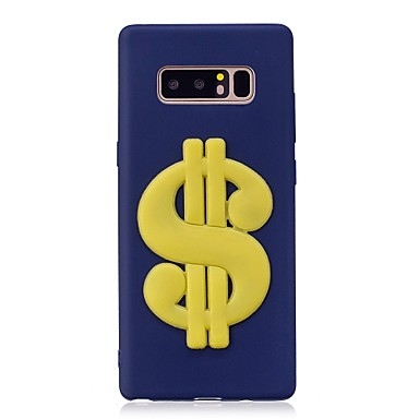 Case For Samsung Galaxy Note 8 Pattern DIY Back Cover Word / Phrase 3D Cartoon Soft TPU for Note 8